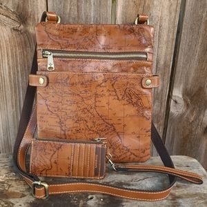 Patricia Nash Leather Riot Rust Crossbody Bag